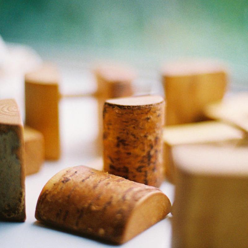 〈1才-〉【色々な素材の積木】お山のつみ木