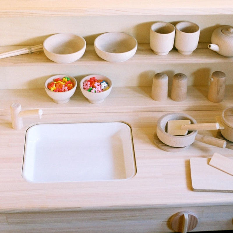 〈1才半-7才〉【ままごと/食器セット】木遊舎 たっぷりままごとセット