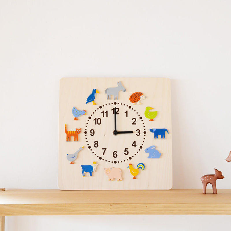 【壁掛け時計】時計 ヤーン動物