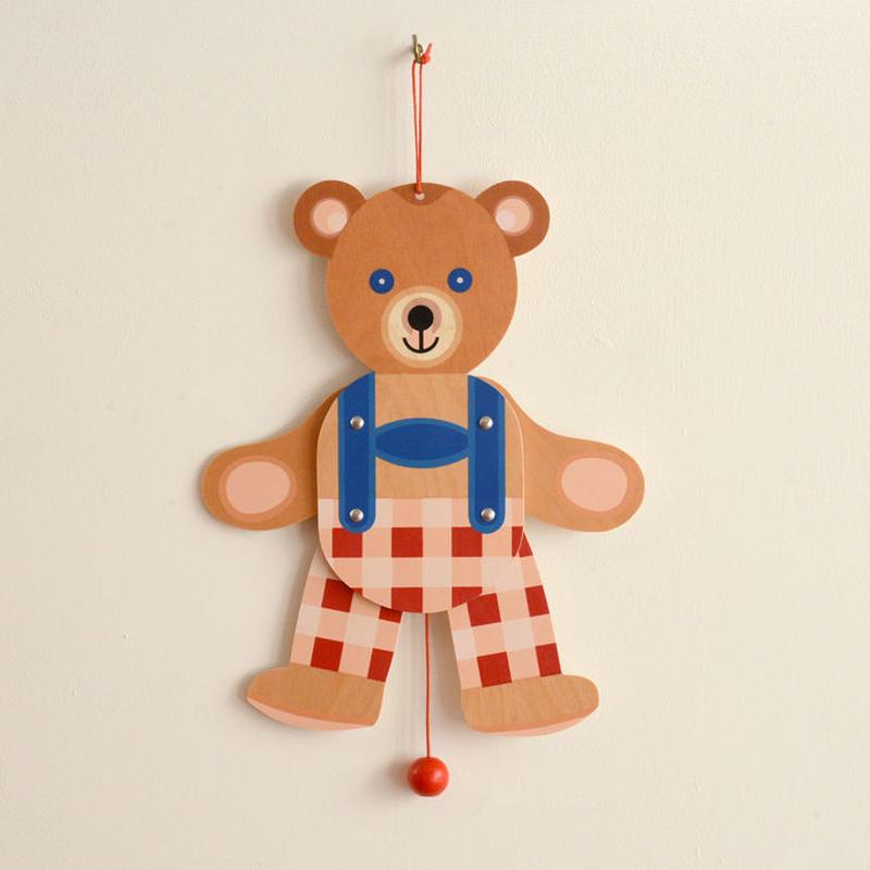 〈1才半-3才〉【ひっぱる玩具】ハンペルマン くま