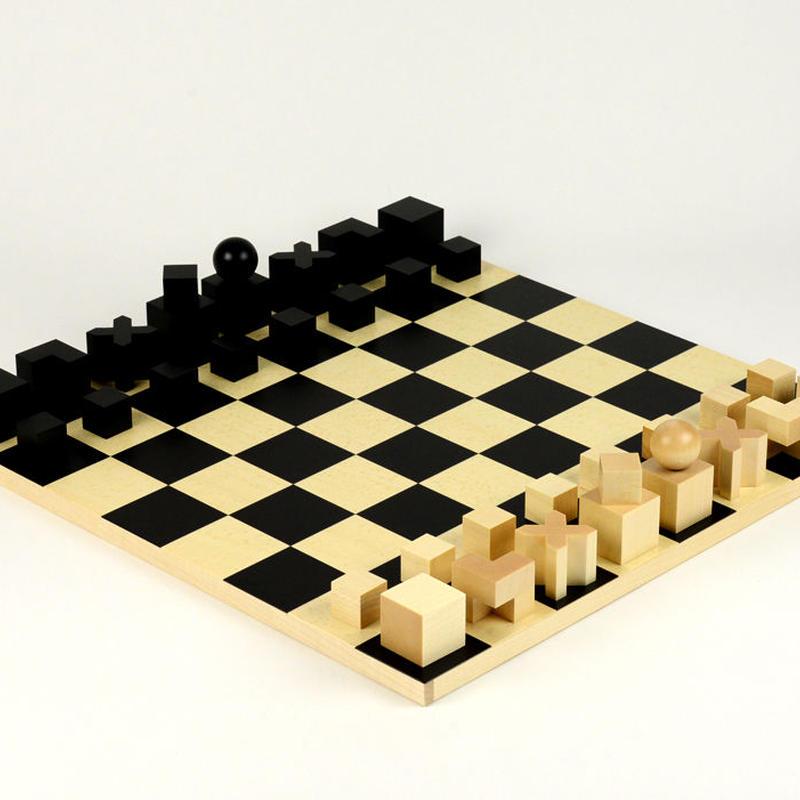 〈10才-大人〉【木製ゲーム/チェス】バウハウス チェス盤