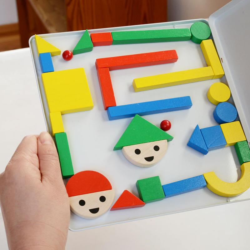 〈4才-6才〉【マグネット玩具】缶入りマグネット玉の道 32ピース (玉入り)