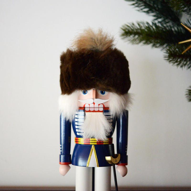 【クリスマス】くるみ割り人形 NKイギリス兵隊 青