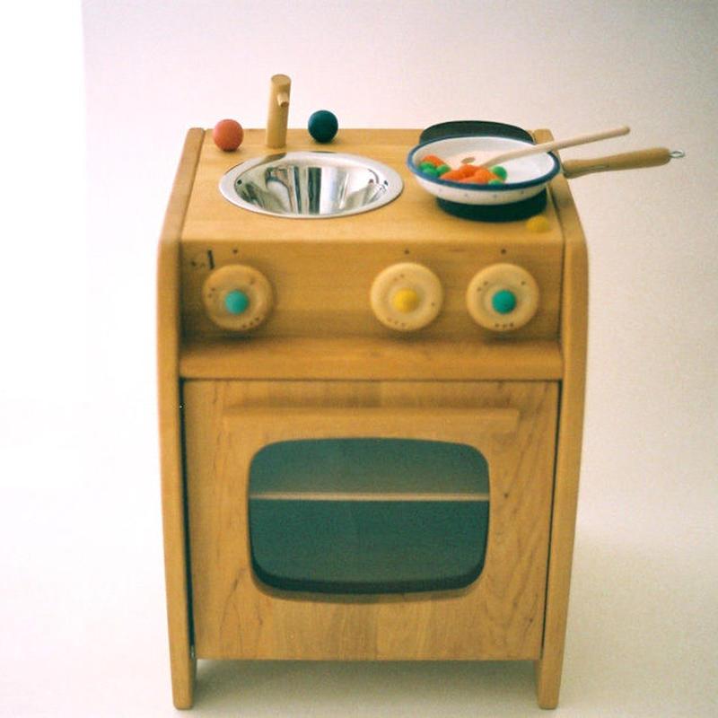 〈2才-〉【ままごと用キッチン】チャイルドキッチン(流し付き)
