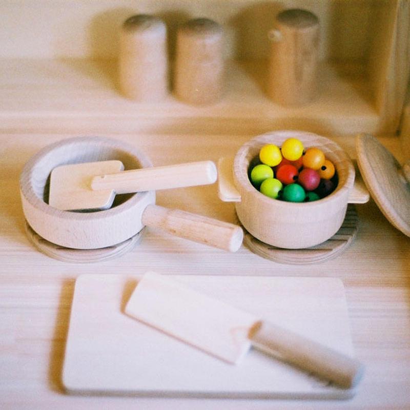 〈1才半-7才〉【ままごと/食器セット】木遊舎 お料理セット