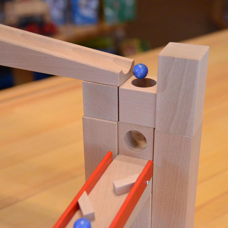 【3才〜】【積木のビー玉転がし・構成玩具】穴あき積木セット