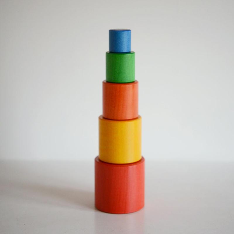 〈1才-〉【「形」の玩具】【積木の前の積木/はめ込み玩具】タワー