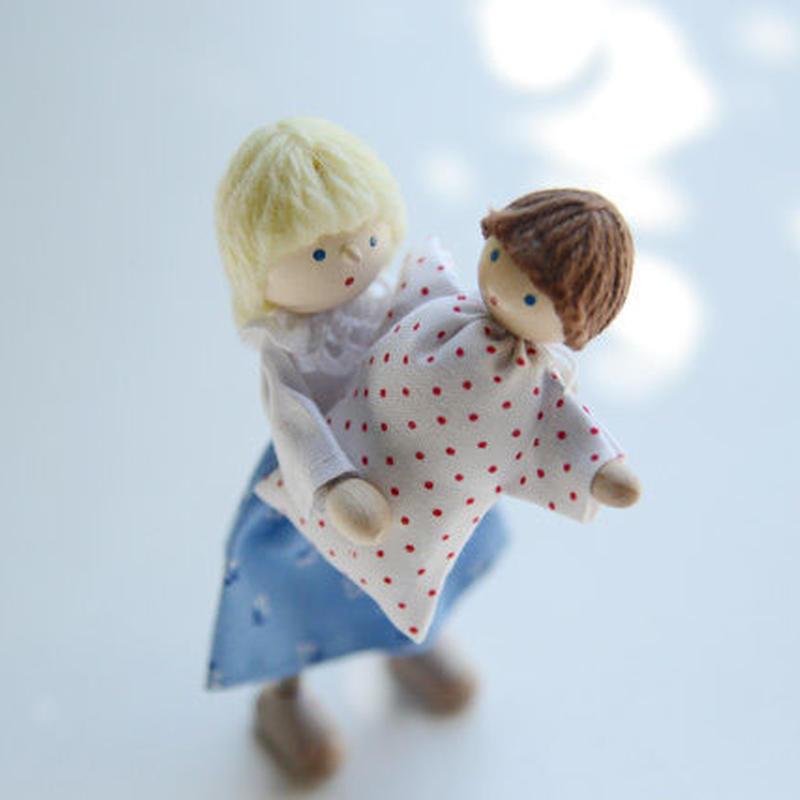 〈3才-〉【ドールハウス/人形】自在人形 母
