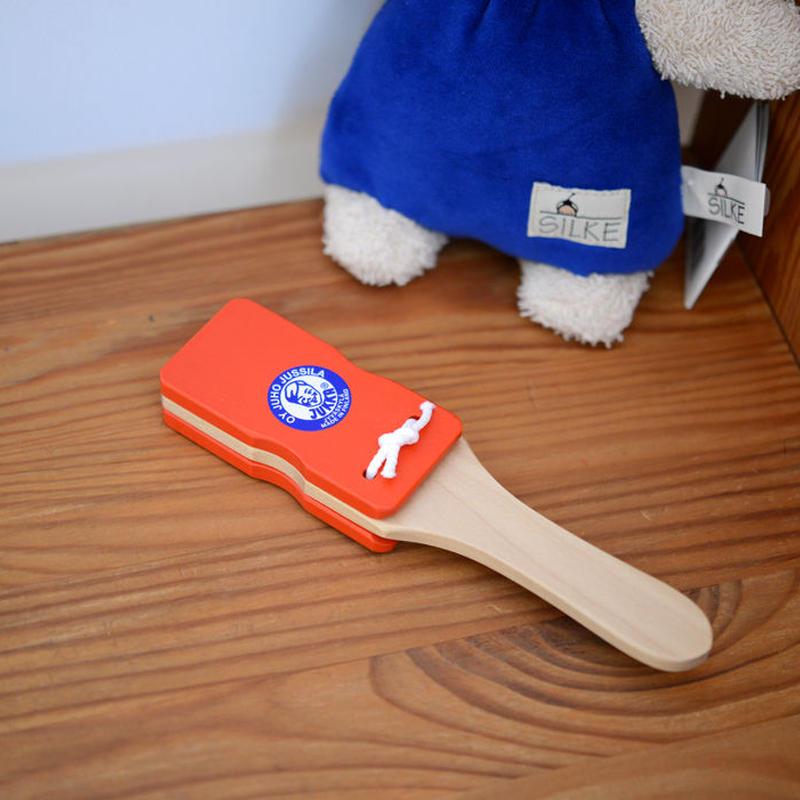 〈10ヶ月-1才〉【ベビー/音の玩具】Jカスタネット 赤