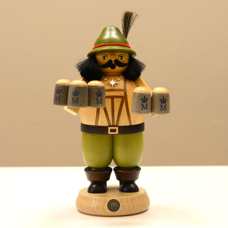 【クリスマス】煙出し人形 バイエルンのバーテンダー
