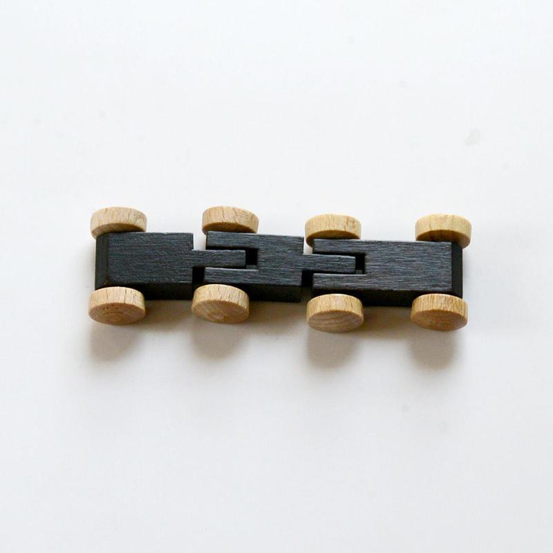 【パーツ/車】2両トレイン 茶