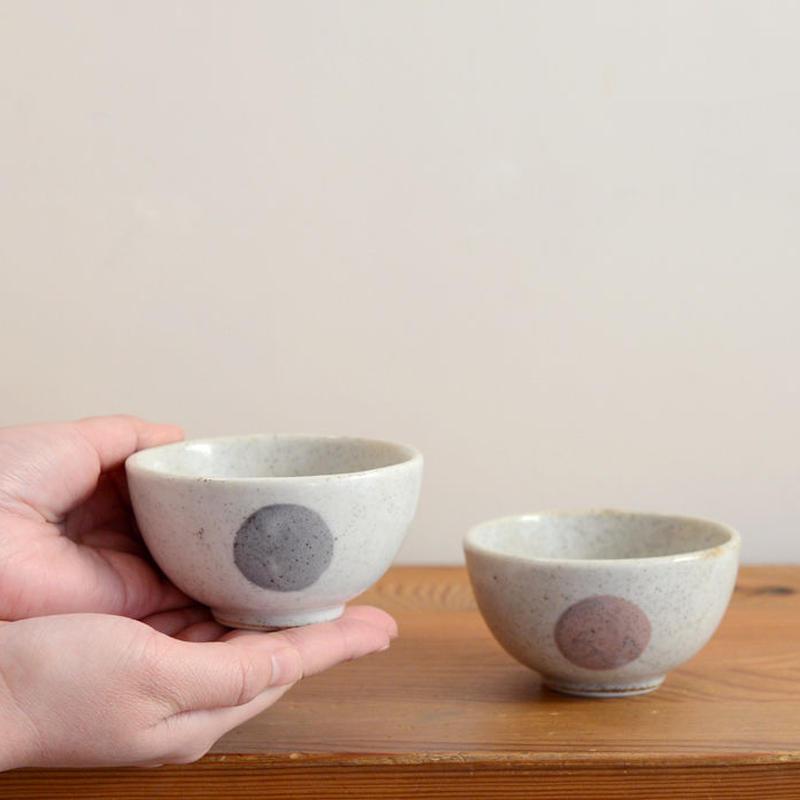 〈2才-5才〉【食器/はじめての陶器】子どものお茶碗 モノトーン / 赤系