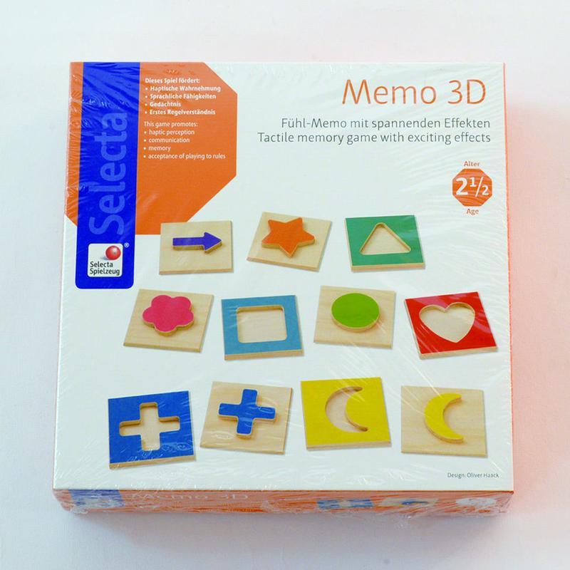 〈2-99才〉【はじめてのゲーム】【木製ゲーム/立体メモリーゲーム】3Dメモリー