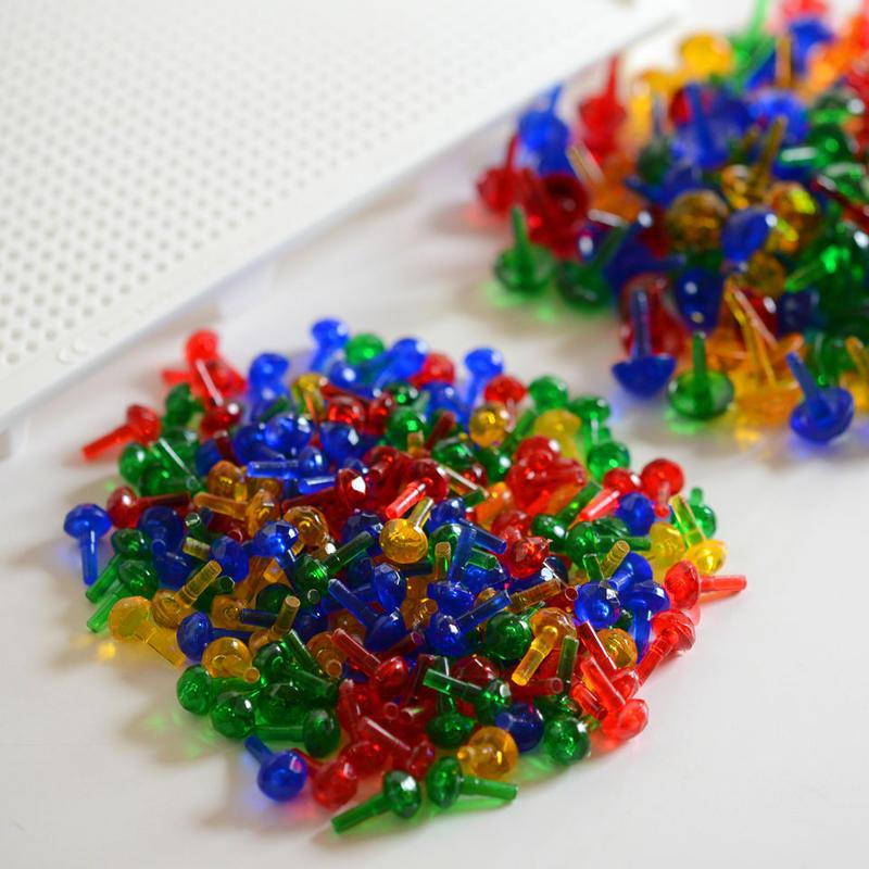 〈2才-8才〉【色・形の構成遊び玩具】【指先を使う玩具】LENA モザイクステッキセット