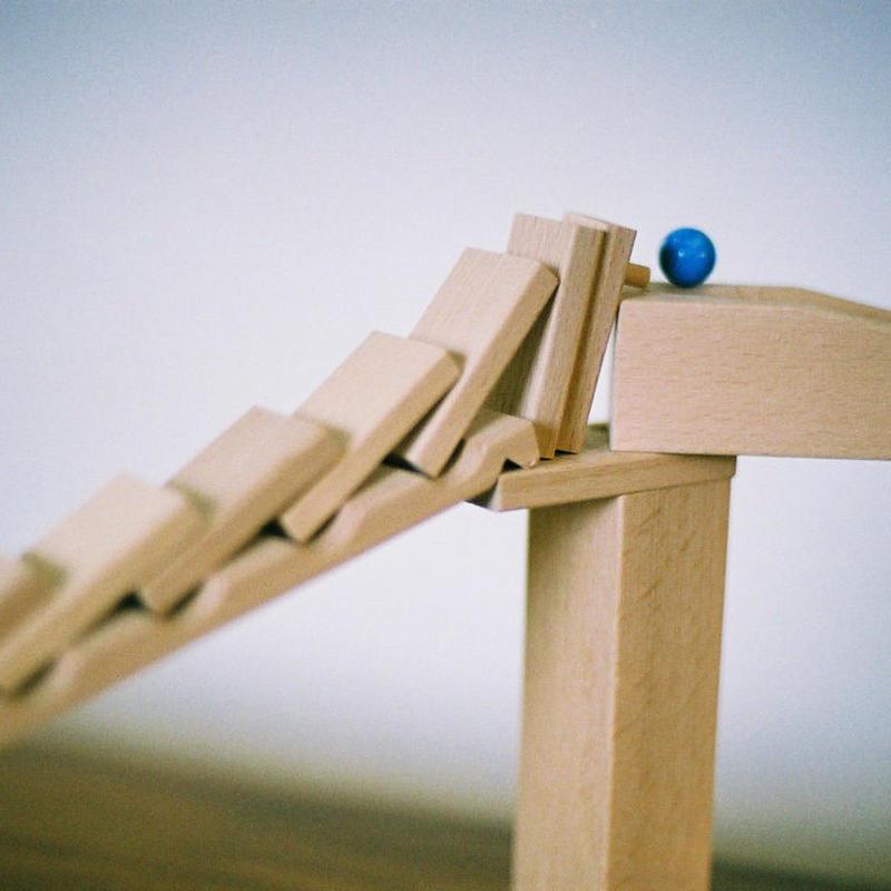 〈5才-〉【追加パーツ/玉の道づくり玩具】ドミノラリーセット