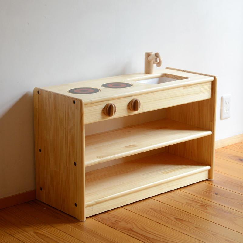 ※取り寄せ品※ 〈2才-〉【ままごと用キッチン】乳児用 白木流し台  (取り寄せ到着目安:1週間)