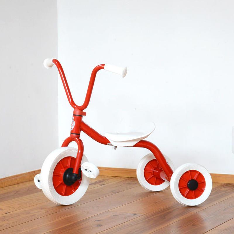 〈2才-〉【乗り物/三輪車】ウィンザー ペリカン三輪車Vハンドル赤