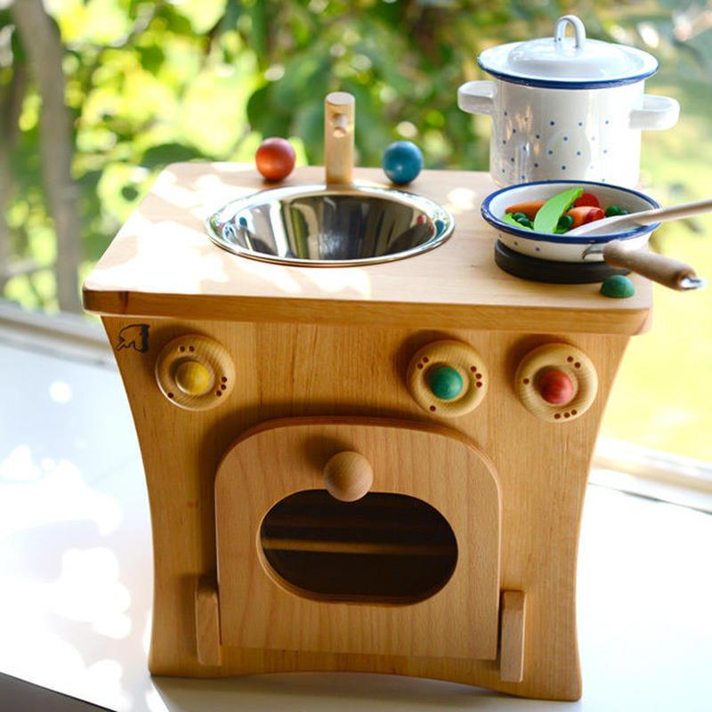 〈2才-〉【ままごと用キッチン】プッペンキッチン