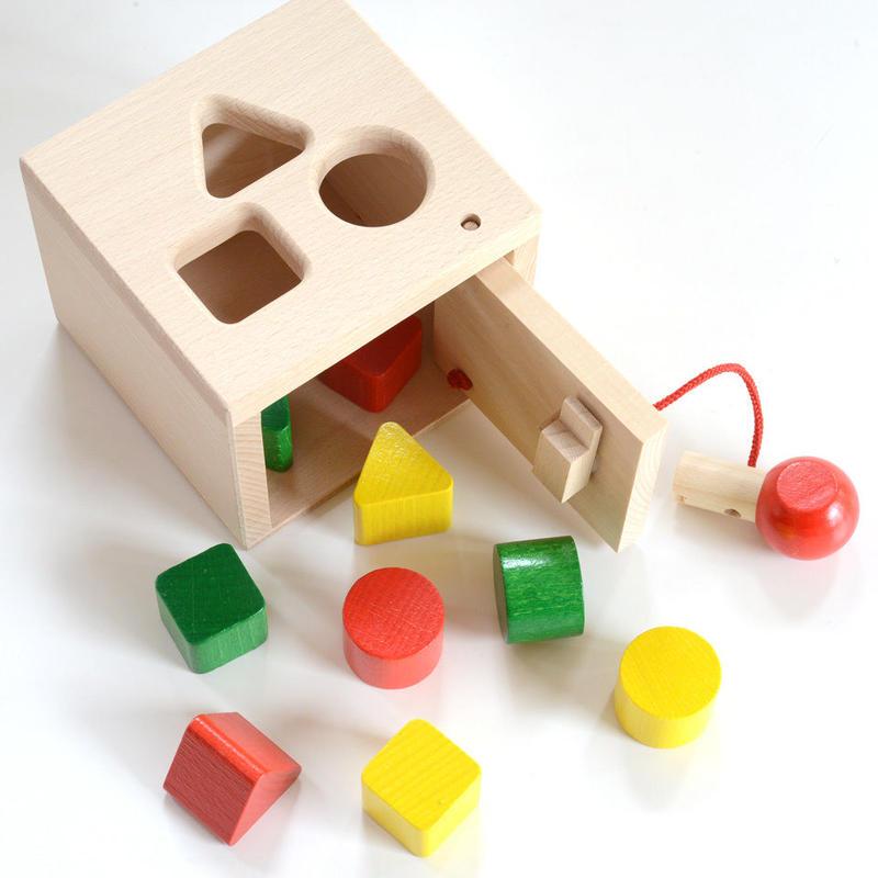 〈1才-3才〉【「形」の玩具】【型はめ遊び】キーボックス