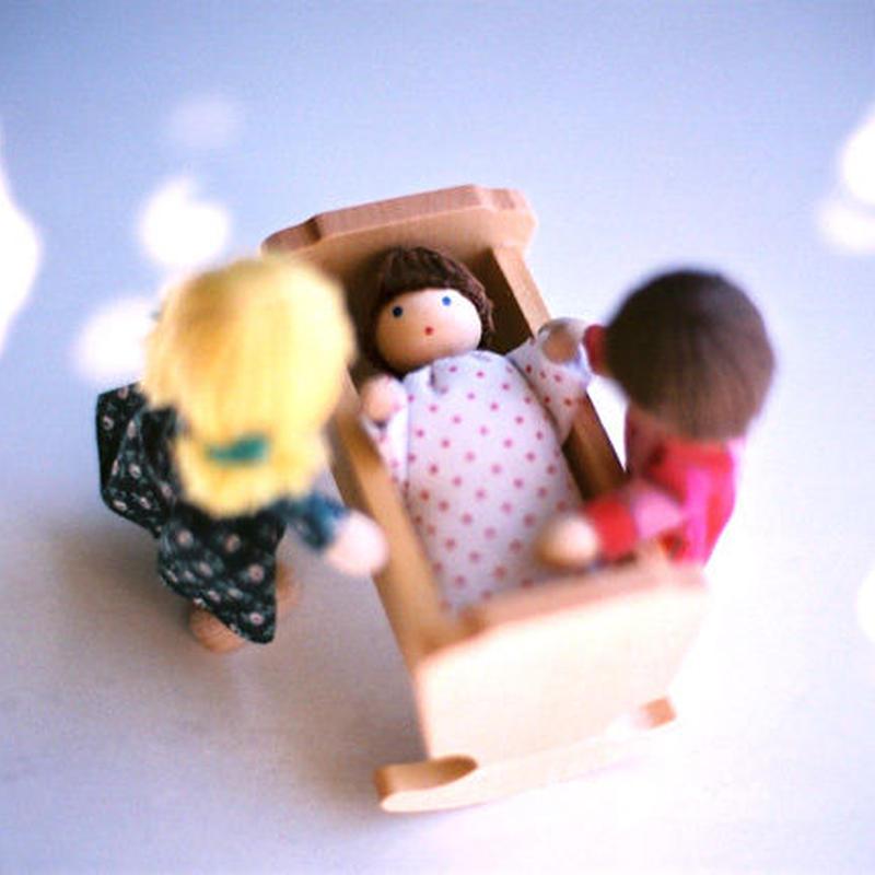 〈3才-〉【ドールハウス/人形】自在人形 ベビー
