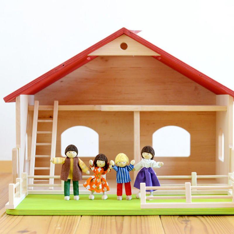 〈3才-〉【ドールハウス/本体(家のみ)】庭付き 人形の家