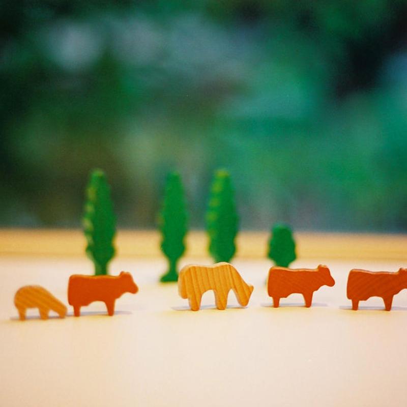 〈2才-〉【追加の積木】ミニ積木 動物たち (70ピース)