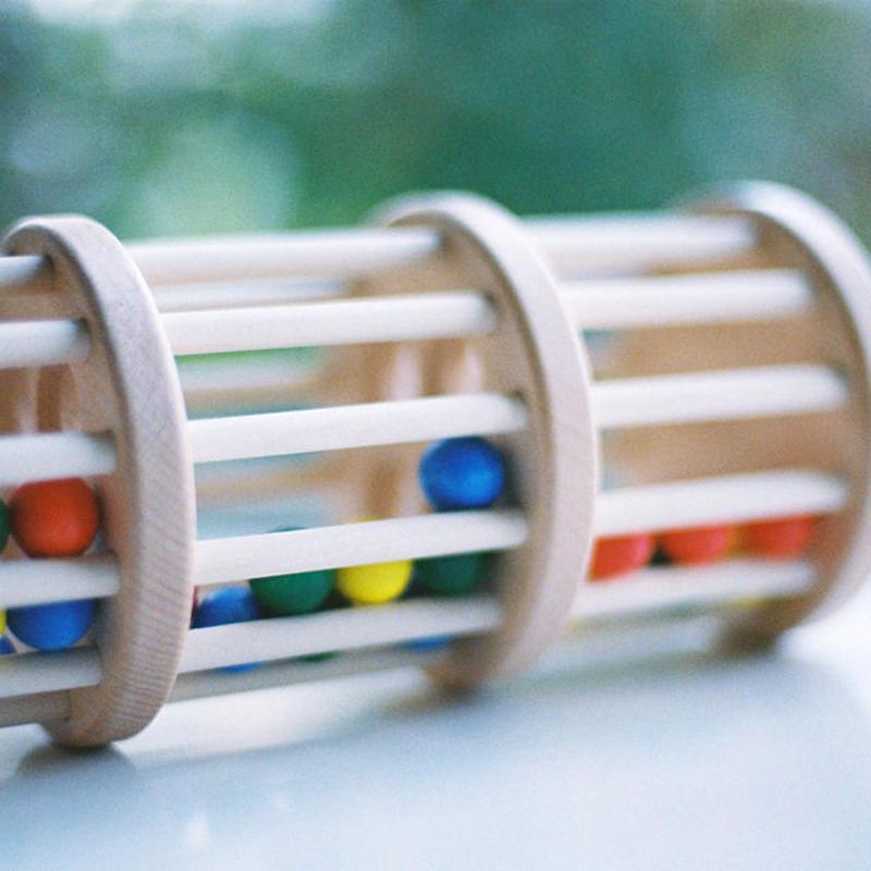 〈6ヶ月-〉【ベビー/動きの玩具】ドラム玉落とし