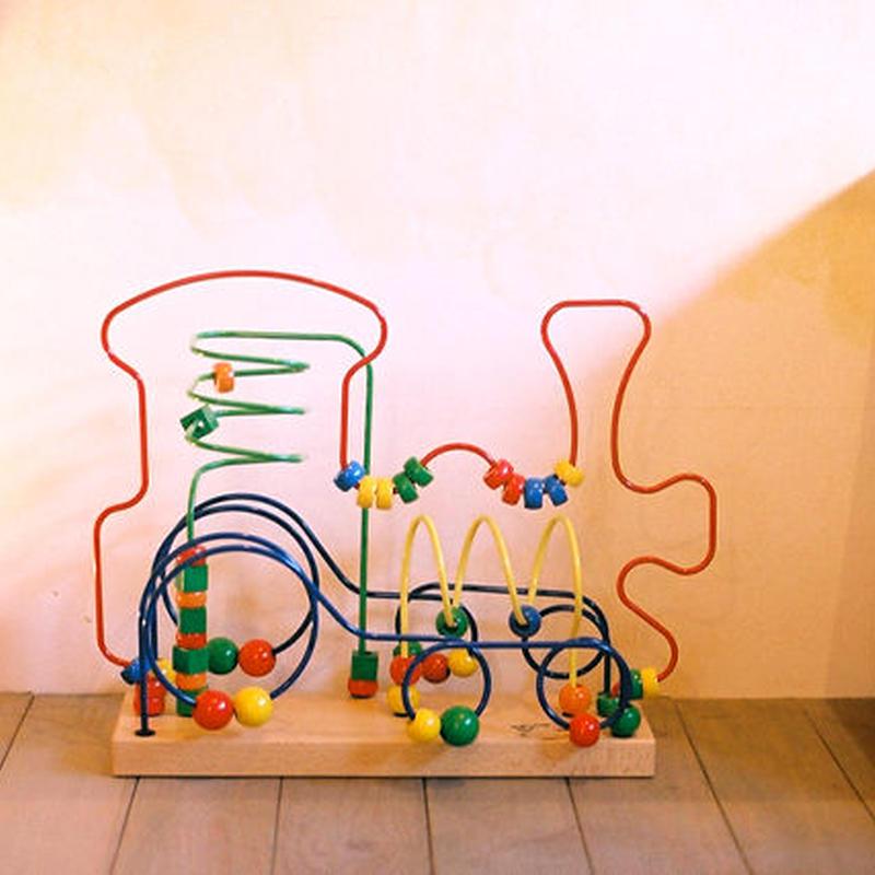 〈1才-〉【玉のレール遊び玩具】【指先を使う玩具】ルーピング 汽車
