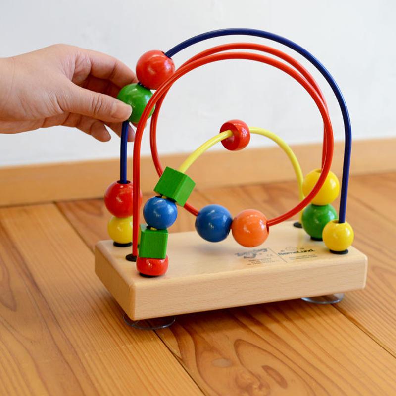 〈1才-〉【玉のレール遊び玩具】【ベビー/動きの玩具】【指先を使う玩具】ルーピング スクィード