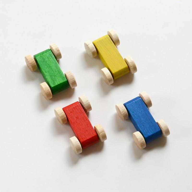 【パーツ/車】4色カー 各色1個