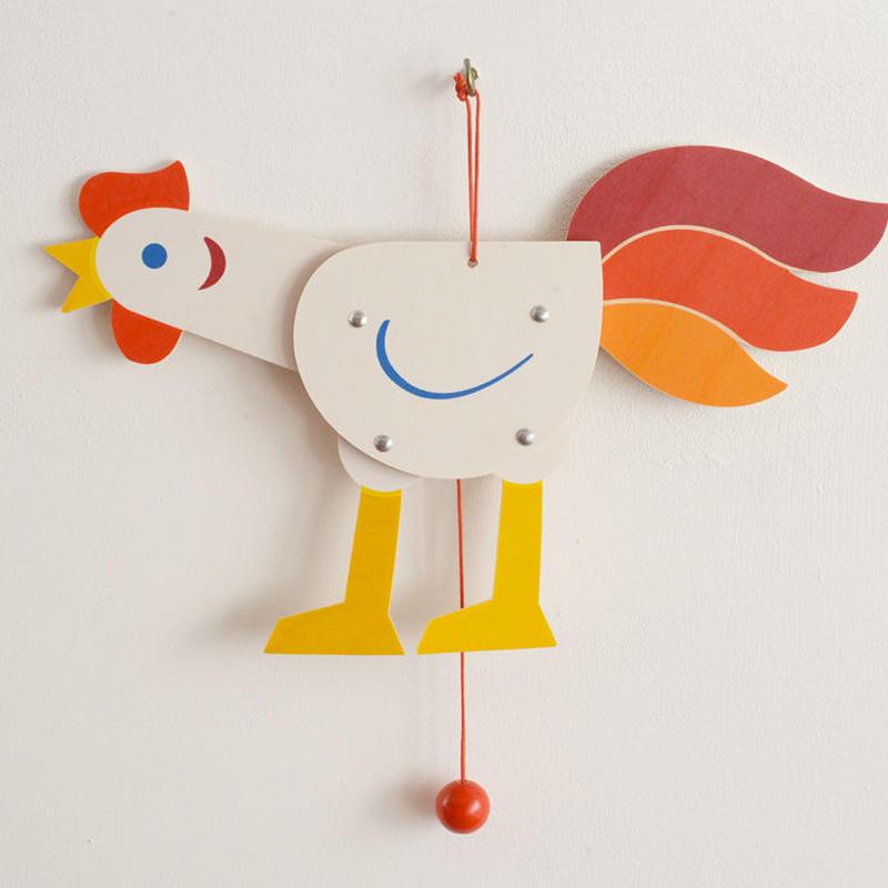〈1才半-3才〉【ひっぱる玩具】ハンペルマン 白いにわとり