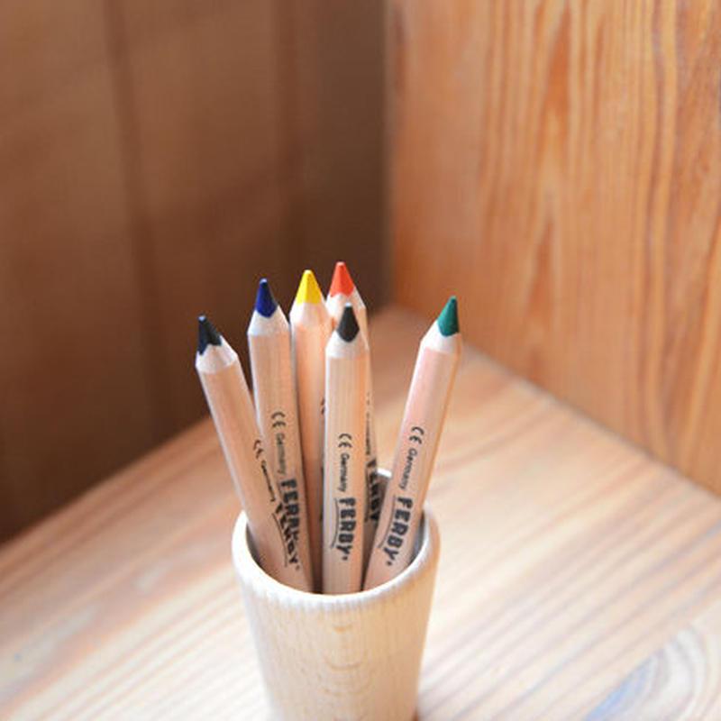 〈3才-〉【色鉛筆】ファルビー軸白木6色セット