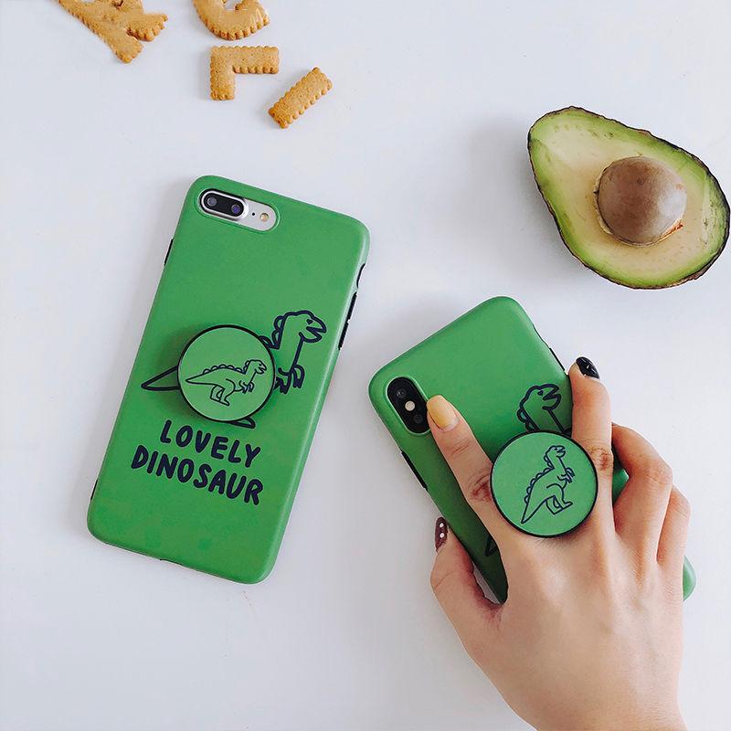 【M638】★ iPhone 6 / 6sPlus / 7 / 7Plus / 8 / 8Plus / X / Xs /Xr /Xsmax★ シェルカバー ケース green dinosaur