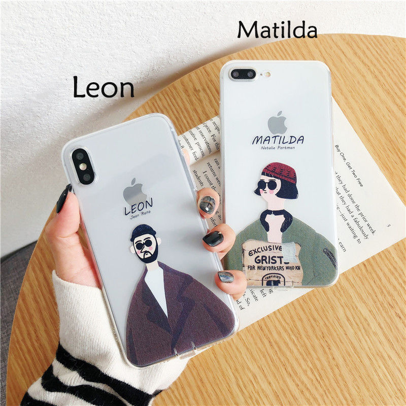 【N257】★ iPhone 6s / 6sPlus / 7 / 7Plus / 8 / 8Plus / X / Xs ★  Leon&Matilda iPhone ケース お洒落 Clear