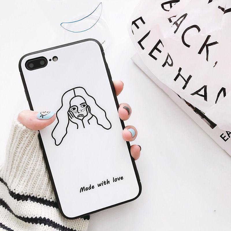 【MD353】★ iPhone 6 / 6s / 6Plus / 6sPlus / 7 / 7Plus / 8 / 8Plus / X/XS★ シェルカバー ケース  Girl iPhone Case