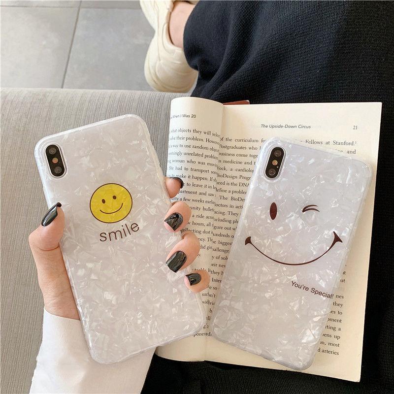【N456】★ iPhone 6 / 6sPlus / 7 / 7Plus / 8 / 8Plus / X/XS / Xr /Xsmax ★ シェルカバー ケース Today Smile