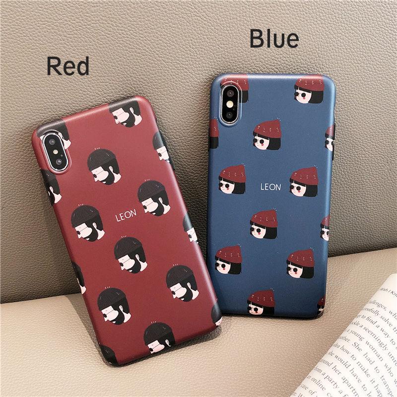【N183】★ iPhone 6 / 6sPlus / 7 / 7Plus / 8 / 8Plus / X /XS /XR/Xs max★ シェルカバーケース  Couple Leon