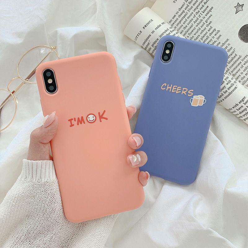 【N550】★ iPhone 6 / 6sPlus / 7 / 7Plus / 8 / 8Plus / X /XS /XR/Xs max★ シェルカバーケース I am OK