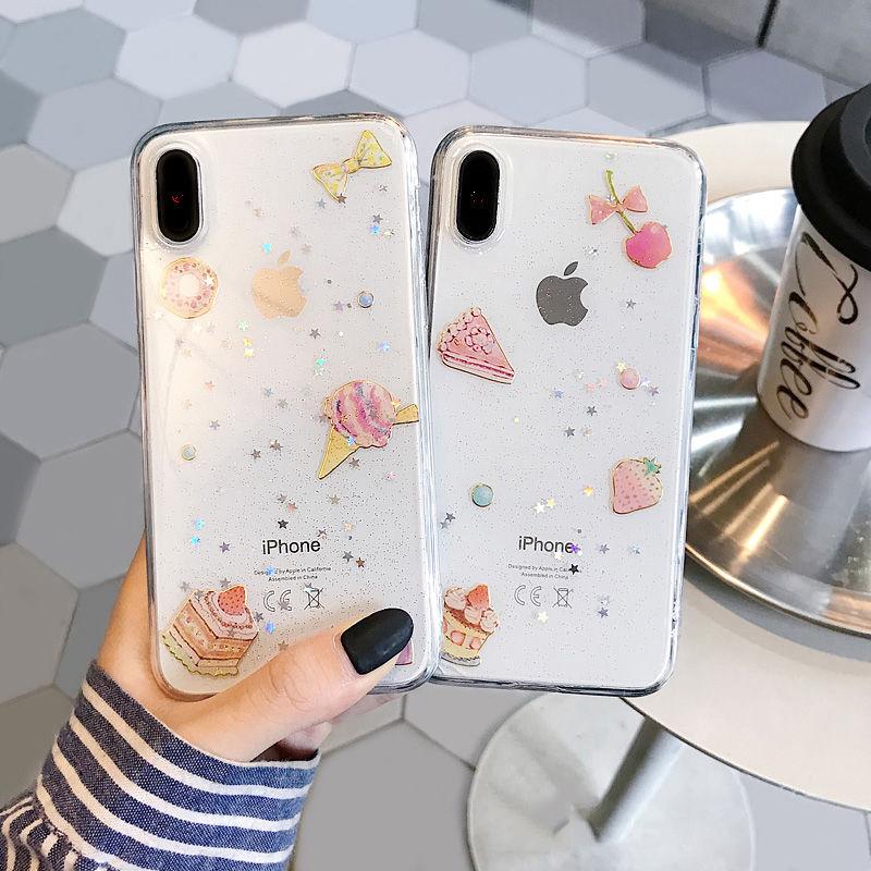 【N417】★ iPhone 6 / 6sPlus / 7 / 7Plus / 8 / 8Plus / X /XS /XR/Xs max★ シェルカバーケース アイスクリーム