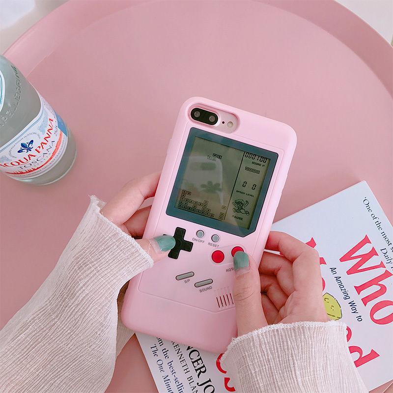 🌟再入荷🌟【M605】★ iPhone 6/6s/6Plus /6sPlus / 7 / 7Plus / 8 / 8Plus / X ★ Game Boy iPhone ケース お洒落 ピンク