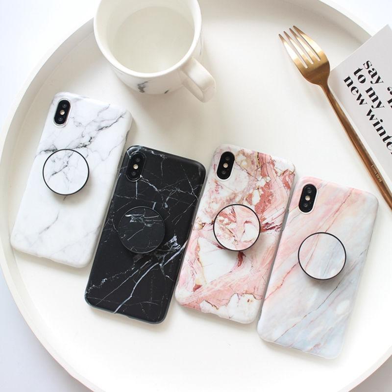 【M532】♡ iPhone 6 / 6s /6Plus / 6sPlus / 7 / 7Plus / 8 / 8Plus / X iPhoneケース 大理石リングおしゃれ