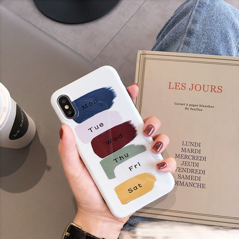 【N115】★ iPhone 6 / 6sPlus / 7 / 7Plus / 8 / 8Plus / X/ XS / Xr /Xsmax ★ シェルカバース WEEKS