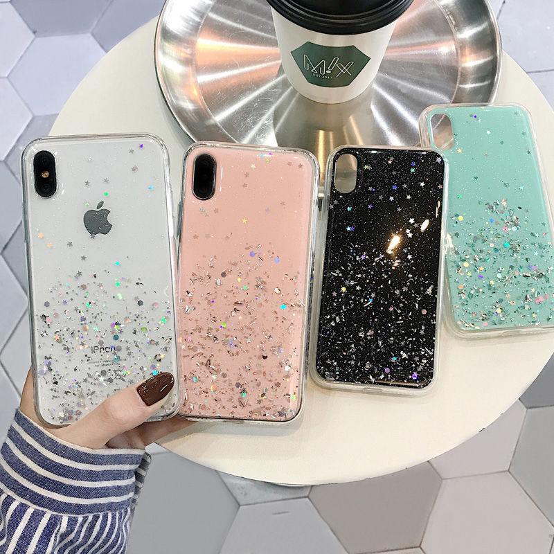【N572】★ iPhone 6 / 6sPlus / 7 / 7Plus / 8 / 8Plus / X /XS /XR/Xs max★ シェルカバーケース Glitter
