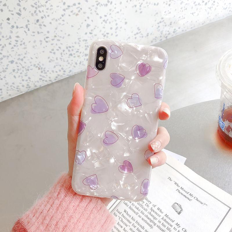 【N303】★ iPhone 6 / 6sPlus / 7 / 7Plus / 8 / 8Plus / X/XS / Xr /Xsmax ★ シェルカバー ケースShell Heart♥