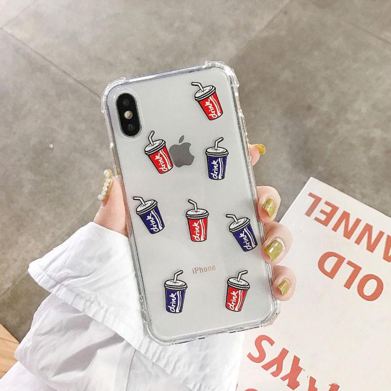 【N442】★iPhone 6 / 6s / 6Plus / 6sPlus / 7 / 7Plus / 8 / 8Plus / X / Xs /XR /XSmax★iPhone ケース 飲みましょう