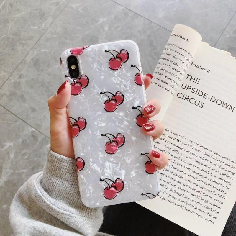 【N252】★ iPhone 6 / 6sPlus / 7 / 7Plus / 8 / 8Plus / X/XS / Xr /Xsmax ★ シェルカバー ケース  Cherry 🍒