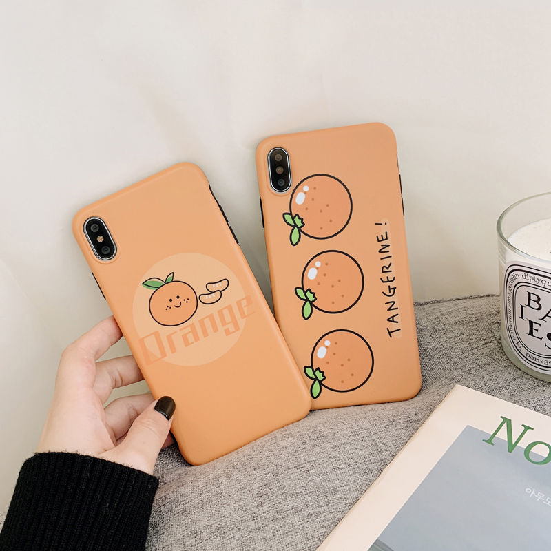 【N467】★ iPhone 6 / 6sPlus / 7 / 7Plus / 8 / 8Plus / X/XS / Xr /Xsmax ★ シェルカバー ケース オレンジ