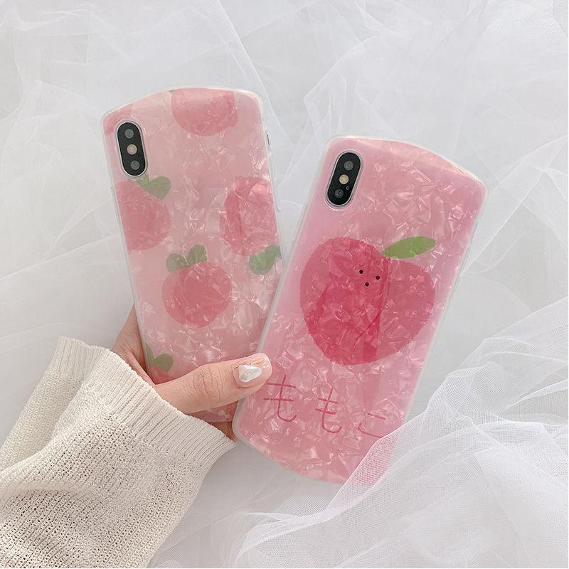 【N546】★ iPhone 6 / 6sPlus / 7 / 7Plus / 8 / 8Plus / X/XS / Xr /Xsmax ★ シェルカバー ケース  ピーチ