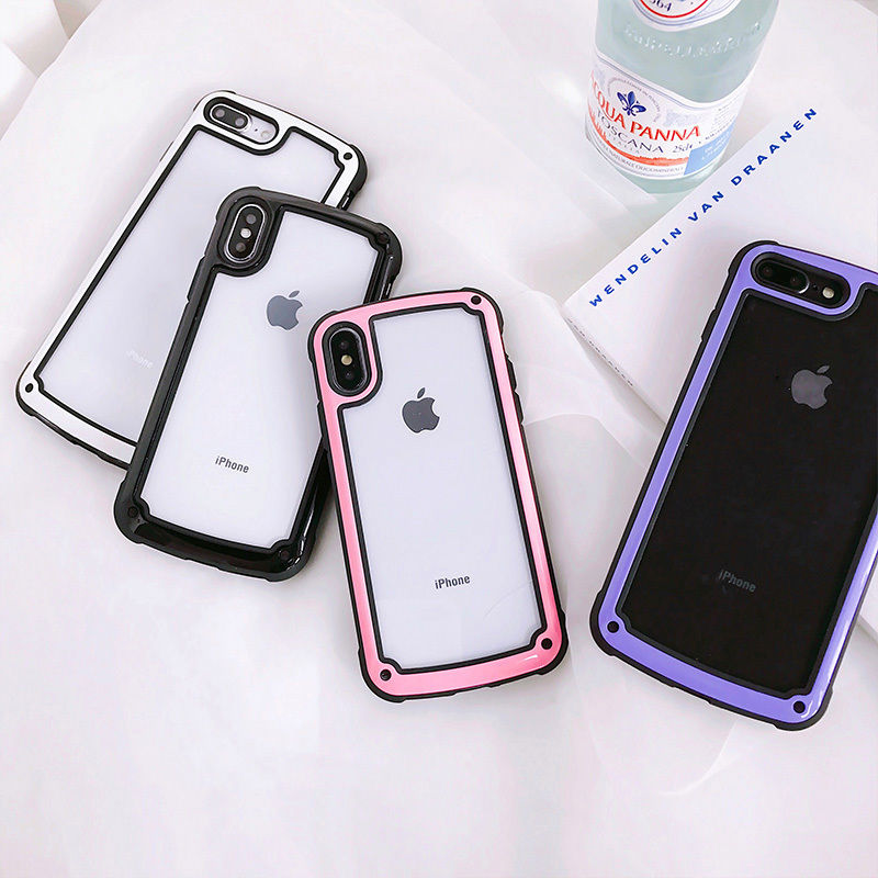 【M622】★ iPhone 6 / 6sPlus / 7 / 7Plus / 8 / 8Plus / X / Xs / Xr / Xs Max★ シェルカバーケース シンプル フレーム ケース
