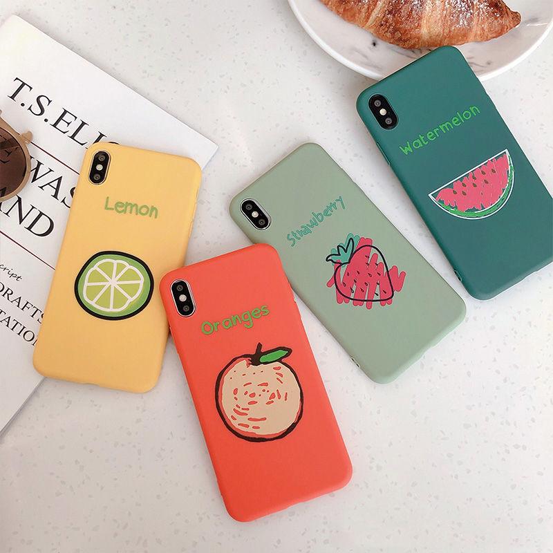 【N260】★ iPhone 6 / 6s / 6Plus / 6sPlus / 7 / 7Plus / 8 / 8Plus / X/XS ★ シェルカバー ケース Fruits